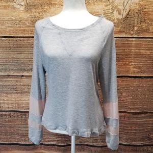 Buckle Daytrip Grey Pullover Sweatshirt Medium